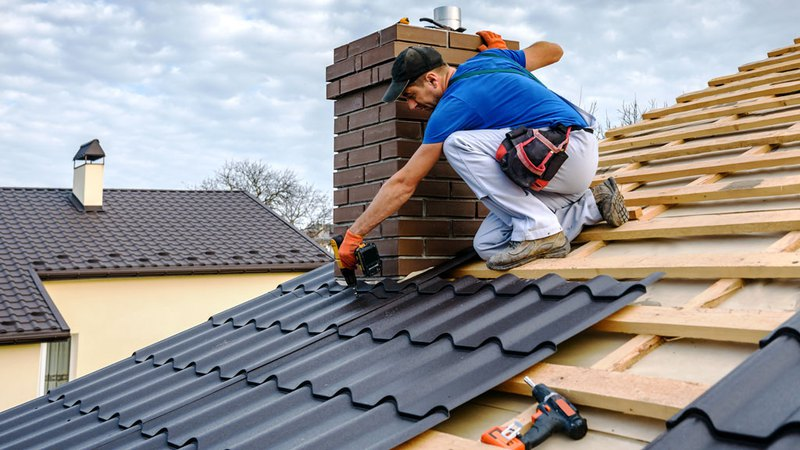 Roofing services performed by expert