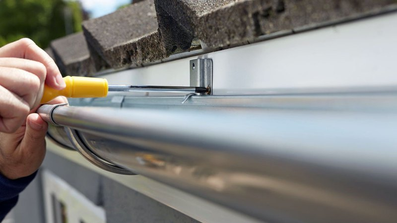 Gutter installation performed by professional contractor